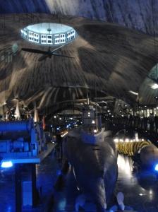 Lennusadam-museon näyttelyhalli.