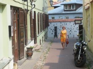 Vilnan Literatu-kadulla heinäkuun viime päivinä.