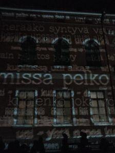 Lux-Helsinki -tapahtuman viestiseinä alkuvuonna 2014