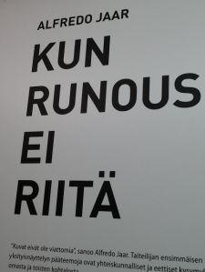 Kun runous...