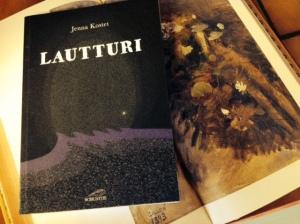 """Lautturin alla Gallen-Kallelan """"Lumpeihin hukkunut"""" Kantelettaren juhlapainoksesta."""